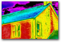 Infrared image of residence with mold.